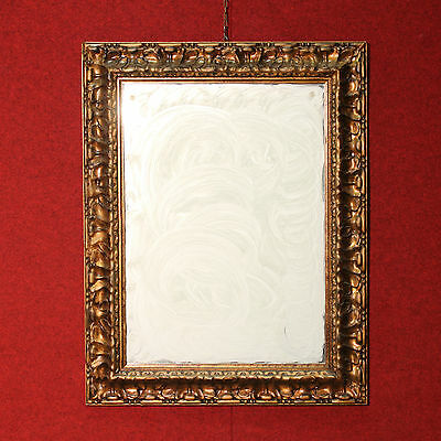 BELLA MIROIR BOIS sculpté D'OR ITALIE REPRODUCTION MODERNE (H 90 cm)