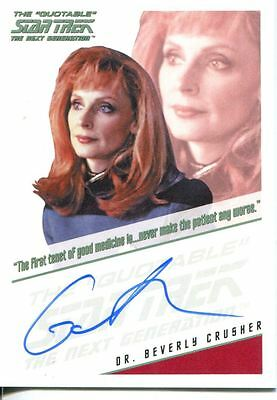 Star Trek TNG The Complete Series 1 Autograph Card Gates McFadden
