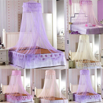 Retro Mosquito Net Netting Bed Home Canopy Curtain Dome Queen Size Sleep Protect