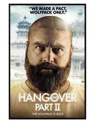 The Hangover Part II Gloss Black Framed Wolfpack Only Maxi Poster 61x91.5cm