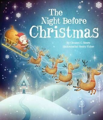 The Night Before Christmas (Picture Story Book) Hardcover Book