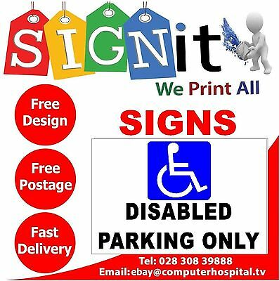 Disabled Parking Only Sticker, Correx Plastic Or Aluminium Sign - NN0025