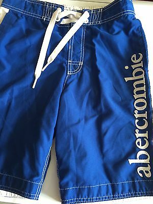 Abercrombie XL Boys Royal Blue Board Shorts Swim Trunks Fully Lined Mesh