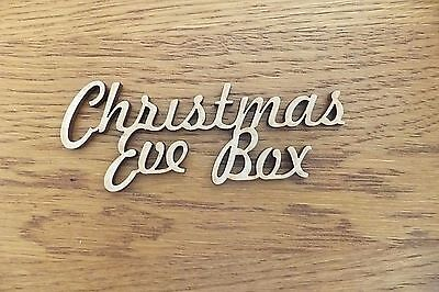 5 x MDF wooden 'Christmas Eve Box' blank craft shape sign plaque topper