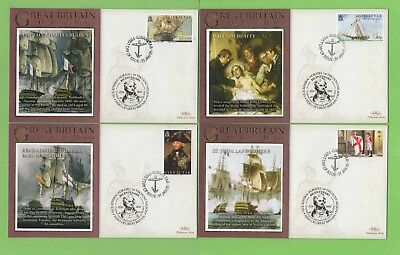 Gibraltar 2005 Four Horatio Nelson First Day Covers