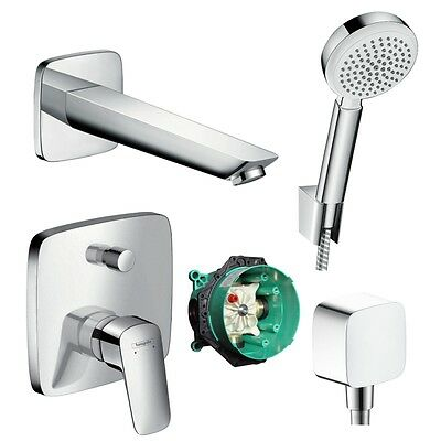 hansgrohe logis up wannenmischer fertigset chrom 71405 badearmatur unterputz eur 75 70. Black Bedroom Furniture Sets. Home Design Ideas