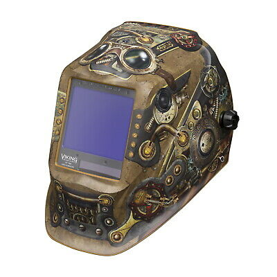 Lincoln Viking 3350 Series Steampunk Auto Darkening Welding Helmet (K3428-3)