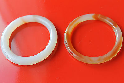 Vintage Pair of Translucent Jade Bangles