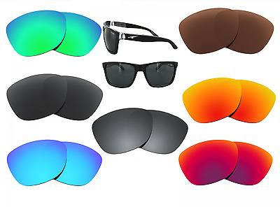 Black Iridium SURE Polarized Replacement Lenses for Arnette Slide 4007