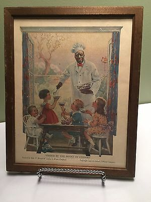 Vintage Print Ad of Cream of Wheat Man serving to Children