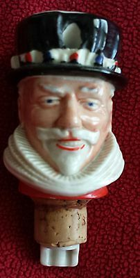 """Vintage British Wade Beefeater Gin Stopper  Cork Spout Pourer 3"""""""