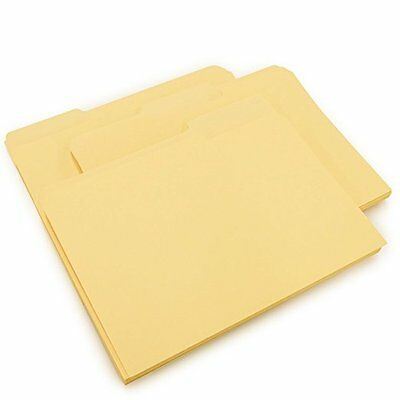 Mead File Folders, Letter Size, 1/3-Cut Tab, Manila, 25 per Box