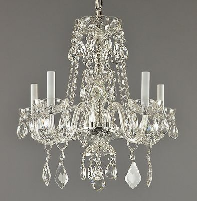 Italian Crystal Chandelier c1950 Vintage Antique Restored Glass Ceiling Light
