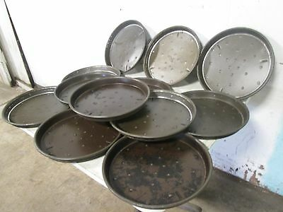 "Lot Of (12) ""domino's Pizza"" H.d. Commercial 14"" Aluminum Deep Dish Pizza Pans"