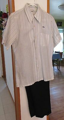 MEN'S VINTAGE CLOTHING, shirt and pants, Mr. California, sz M, pre-owned