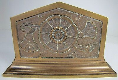 Antique Art Nouveau Bronze Brass Decorative Art Letter Holder thick heavy detail