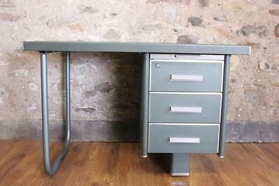 Vintage Mid Century French Metal Desk  Office Desk