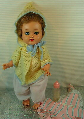 Ideal Betsy Wetsy Doll Rooted Hair/vinyl Body/sleep Eyes/w/extra's