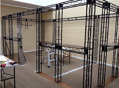 Truss Trade Show Display With 7 Glass Showcases & Cases