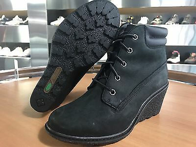21828258d106 Timberland Women s Amston 6 Inch Boots Black Nubuck 8253A 100% Authentic