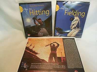 Ken Griffey Jr. on Hitting & Fielding with Placemat.  1997 Pizza Hut. Sealed.