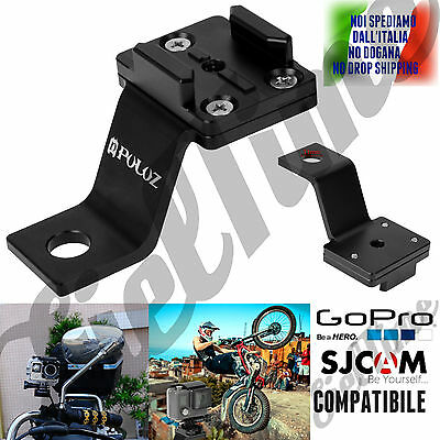 Supporto Staffa Da Manubrio Moto X Sjcam Sj4000 Sj5000 Gopro 5 4 3 Hero Session