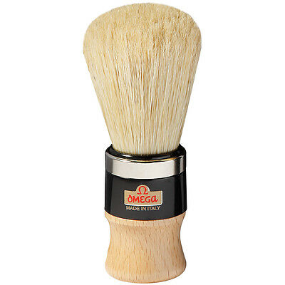 20102 Omega Pure Boar Bristle Shaving Brush – With Metal Ring – Professional