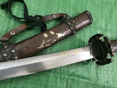 Collectable Japanese Sword WWll Military Katana Warriros&Belles Signed Sword