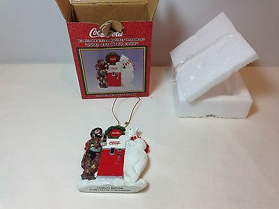 1998 - 1 of 3000 Limited Ed. Cool off With Coke Emmett Kelly Holiday Ornament
