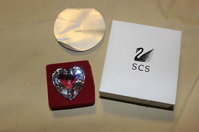 Swarovski Clear Heart Paperweight Crystal Society SCS