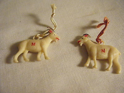 Lot Of 2 Usa Navy Goat Charms Mascot 1920's-1930's Football Celluloid