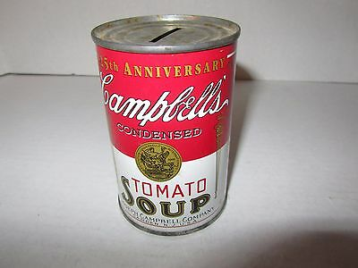 Campbell's 125th Anniversary Tomato Soup Can Coin Bank 1994