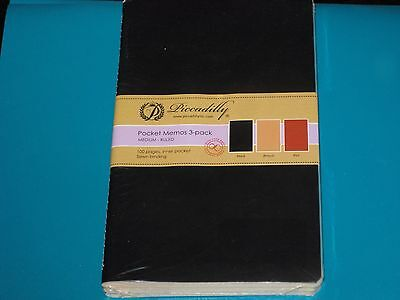 Piccadilly Pocket Memo 3 pack 100 pages Notebook Journal Diary NEW