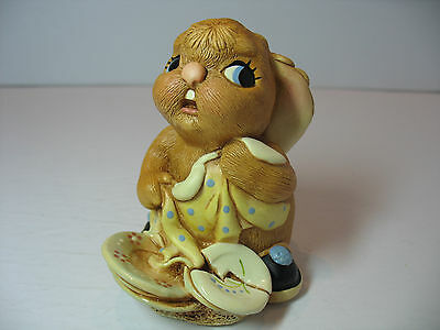 NEW Pendelfin  Butterfingers in Blue Figurine rabbit Bunny w/ Box