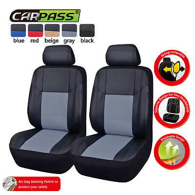 Toyota Prado 120 Series (2002-2009) Front Faux Leather Car Seat Covers Airbag Fi