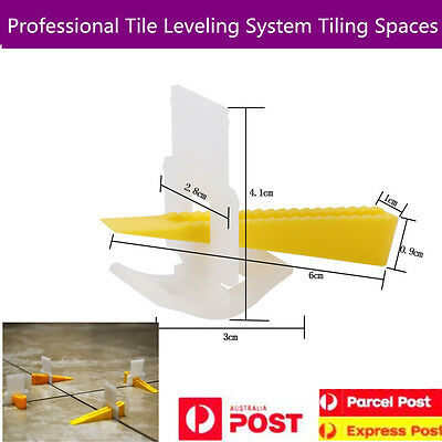 Professional Plastic Tile Leveling System Kits Floor Tiling Wedges Clips Spacers