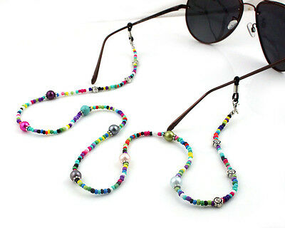 100% handmade Gorgeous colors Finish Spectacle bead Chain. Reading Fashion Free