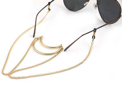 100% handmade Gorgeous Finish Spectacle gold moon Chain Reading Fashion Free