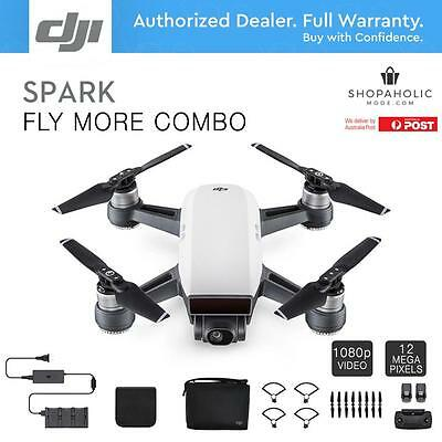 DJI Spark Fly More Combo Quadcopter Drone 12MP 1080p Video 2-Axis Gimbal