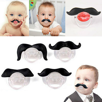 Cute Funny Teeth Beard Mustache Baby Pacifier Orthodontic Dummy Infant Nipples