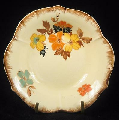 A.J. Wilkinson Honeyglaze Orange & Yellow Flowers Trinket Dish