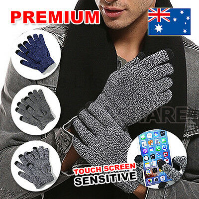 Women Men Warm Touch Screen Soft Wool Winter Gloves Warmer Mobile Phone
