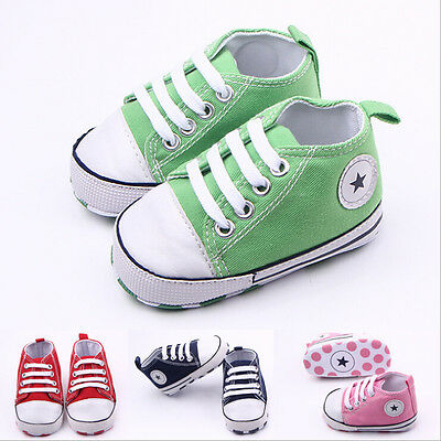 Infant Toddler Baby Boy Girl Soft Sole Crib Shoes Sneaker Newborn to 0-18 Months