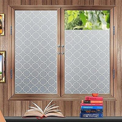 Privacy Window Film Frosted Window Stickers Self Adhesive Static Glass Window