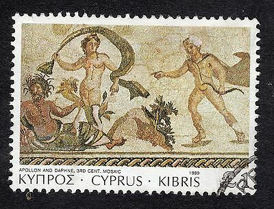 1989 Cyprus £1 Mosaics Apollon and Daphne SG 769 FINE Used R21119