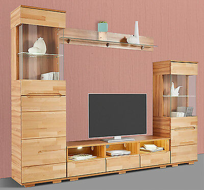 weisse schrankwand wohnwand anbauwand mit glasvitrine. Black Bedroom Furniture Sets. Home Design Ideas