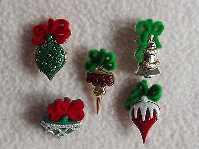 Dress It Up Buttons ~ Christmas Collection ~ Christmas Ornaments ~ Baubles ~Tree