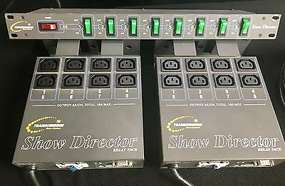 Transcension Show Director 8 way switch unit and 2x Relay packs