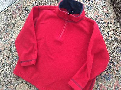 BOYS/Girls LANDS END 5/6 Red Fleece top/pullover/jacket zipper neck FREE SHIP