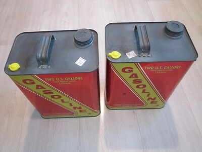 Set Of Two (2) VINTAGE LIBERTY GAS CANS - 2 GALLONS EACH
